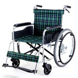 【マキライフテック】アルミ製ノーパンク車椅子 EW-20