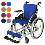 【Care-Tec Japan】自走式アルミ製車椅子 ハピネス CA-10SU