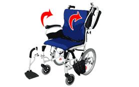 車椅子の跳ね上げ機能