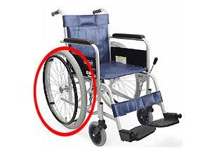 エアタイヤの車椅子イメージ