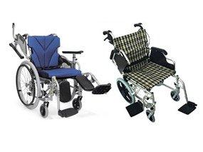 脚部エレベーティング・脚部スイングアウトの車椅子イメージ