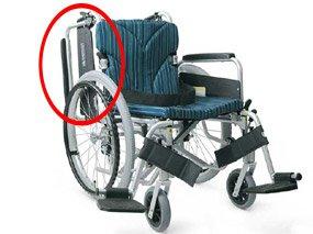 肘跳ね上げ式の車椅子イメージ