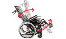 ティルト・リクライニング車椅子のイメージ