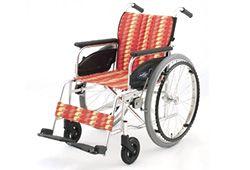 オレンジ色のおしゃれな車椅子のイメージ