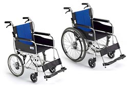 自走式と介助式の車椅子イメージ