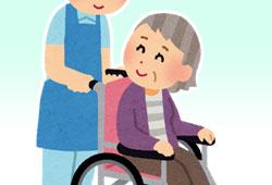 車椅子に座る女性のイメージ