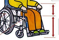 車椅子に座る人のイラスト
