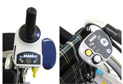 電動車椅子の操作パネルのイメージ