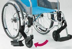 室内車椅子、クッション付きの写真