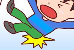 転ぶ男の子のイメージ