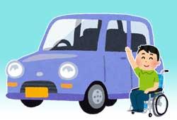 軽自動車と車椅子のイメージ
