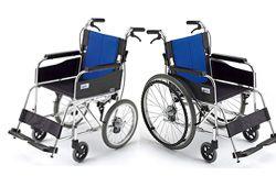 自走式と介助式の車椅子のイメージ