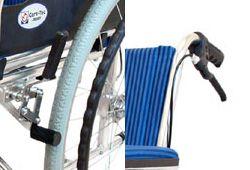 2種類の車椅子ブレーキの画像