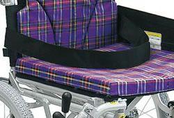 クッション付の車椅子座面