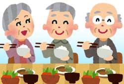 老人ホームで笑顔の方々
