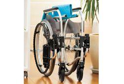 折りたたみしている軽量車椅子のイメージ