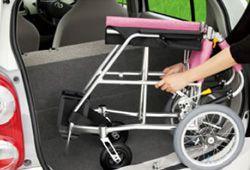 車に乗せる軽量車椅子のイメージ