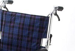 車椅子のブレーキの写真
