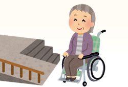 車椅子に座る祖母のイメージ