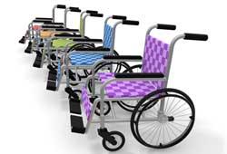 様々な車椅子のイメージ