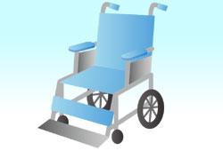 車椅子を介助する人のイメージ