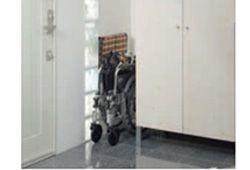 折りたたみ式車いすのイメージ