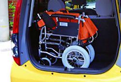 車に積んだ車椅子のイメージ