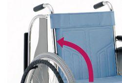 乗り降りの楽な車椅子のイメージ