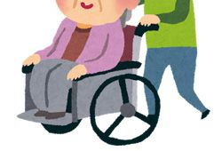 車椅子を押す人のイメージ