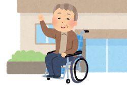 車椅子を寄贈したイメージ