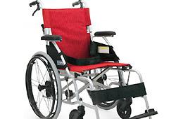 カワムラサイクルの赤い車椅子
