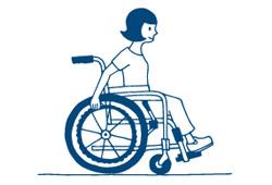 車椅子で出かけるイメージ