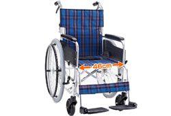 マキライフテックのワイド車椅子のイメージ