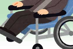 車椅子に乗った女性
