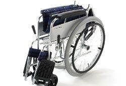 コンパクトに折り畳める車椅子のイメージ