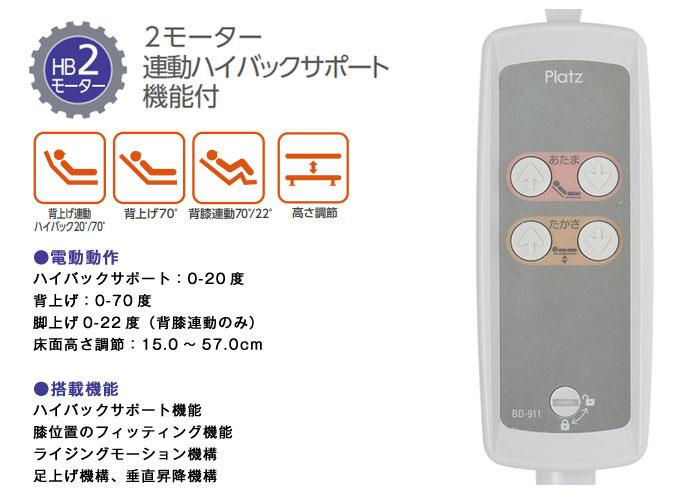 プラッツ 超低床介護ベッド ラフィオ こちらの商品ページはHB2モーターです