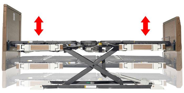 プラッツ 超低床介護ベッド ラフィオは省スペースに設置可能な垂直昇降機構