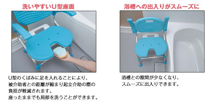 テイコブU型シャワーチェアSCU01の機能