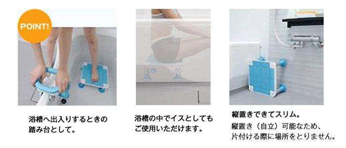 テイコブ浴槽台(中) YD02-13/YD02-16の機能