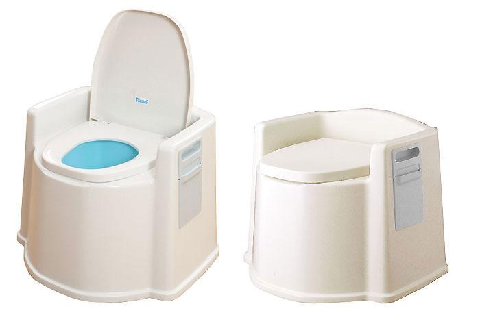 テイコブポータブルトイレ(肘掛け付) PT02 [介護トイレ用品]の機能