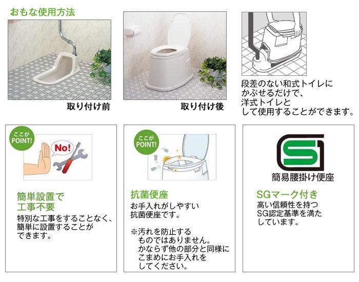 テイコブ腰掛け便座(据置式) KB02 [介護トイレ用品]の機能