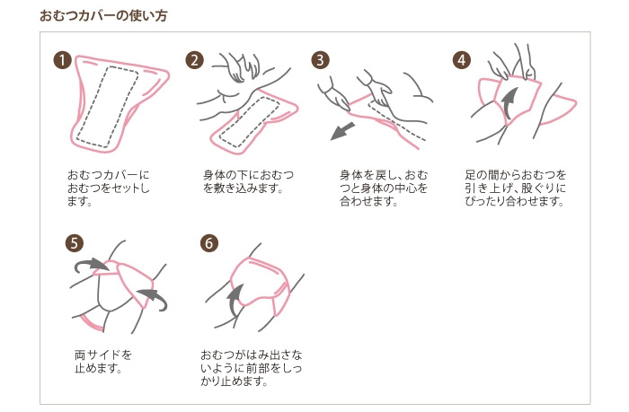 おむつカバー OM01(M・L・LL) [介護トイレ用品]の使い方