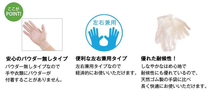 テイコブプラスチック手袋 GL01(S・M・L)  [介護トイレ用品]の使い方