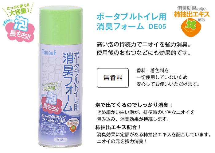 幸和製作所 ポータブルトイレ用消臭フォーム DE05[介護トイレ用品]