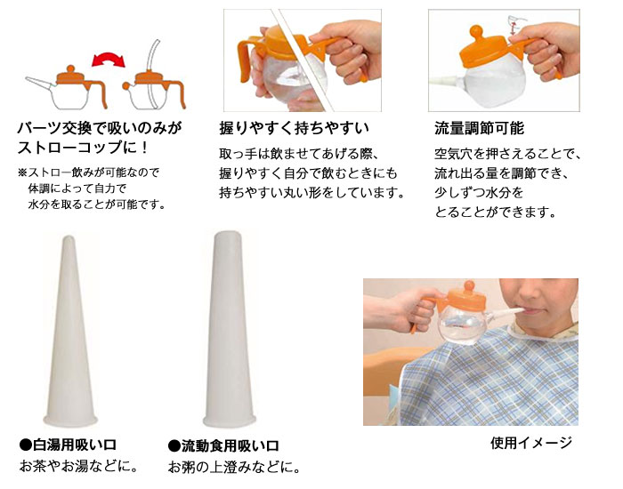 テイコブ吸いのみ(200ml) C01 [介護食器]の機能