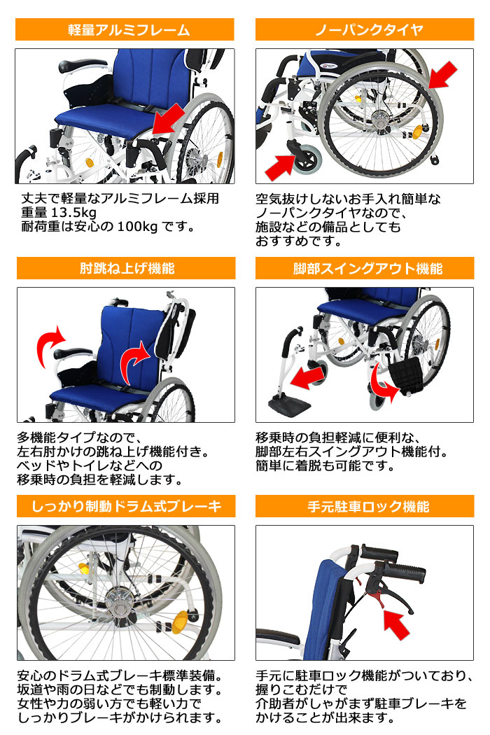 CAH-50SU車椅子画像3枚目
