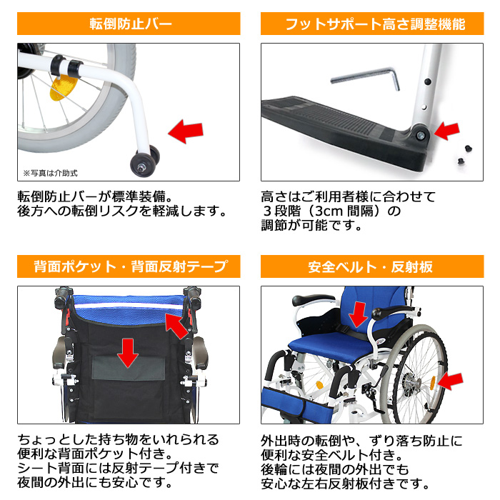 CAH-50SU車椅子画像4枚目