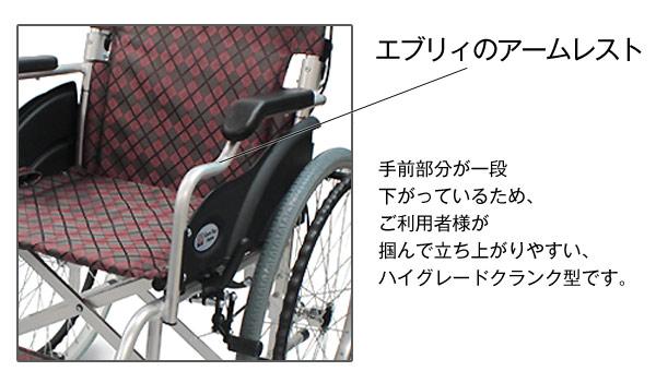 CA-11SU車椅子アームレスト