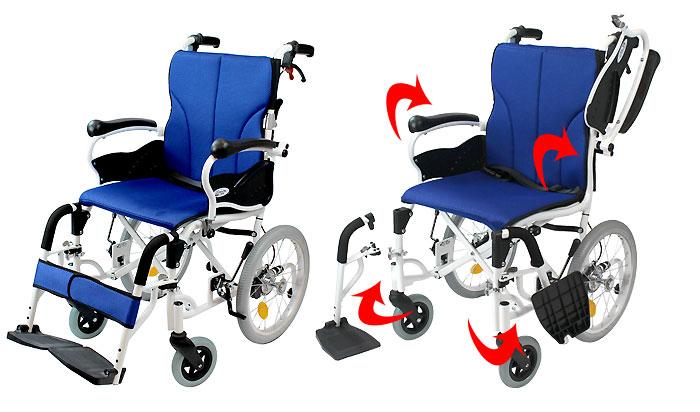 多機能介助式車椅子 コンフォート -介助式- CAH-20SUの4枚目