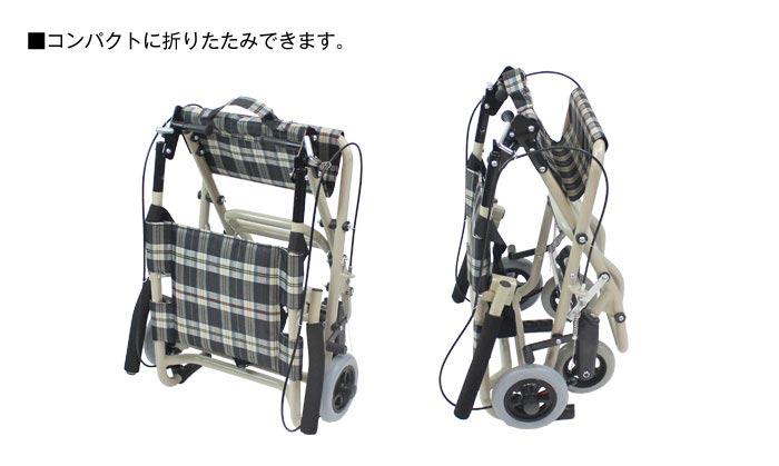 介助式アルミ製車椅子 CA-40車椅子画像3枚目